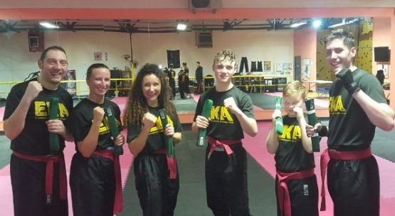 Building confidence in kickboxing